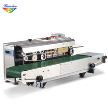 Cheap aluminum foil bags heat sealing machine with conveyor belt