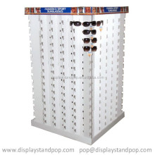 fashional Dior sunglasses/sunglass cardboard display stand for 4 sides showing,LCD sunglass cardboard display stands