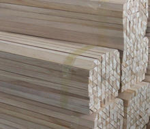 paulownia timber fillet /chamfer strip /wooden triangle strips