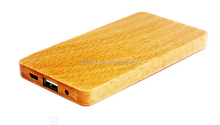 2016 Newest Portable Charger, Fashion Wood Bamboo Design Super Slim 4000mAh Power Bank For Smartphone Tablet