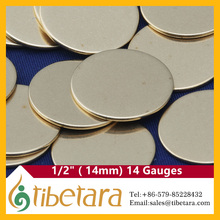 14 Gauge tibetara Wholesale Round Blank Stamping Pendants for Necklaces Earrings