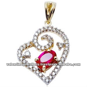 designer heart pendant supplier, heart pendant locket, heart pendant in red ruby