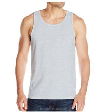 Wholesale custom latest fashion top men's 100% cotton fabric tank tops