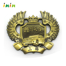 High quality custom metal military car logo emblem badges promotional
