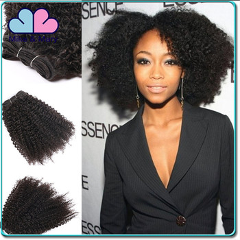 2016 Popular Brazilian Virgin Human Hair Weft Afro Kinky Curly Bundles Hair