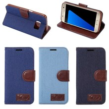 New mobile phone accessories jeans wallet leather flip case for samsung galaxy s8