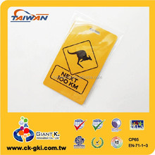 Plastic Custom Hard PVC Luggage Tag for promotional gift Kangaroo