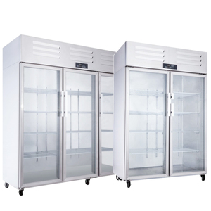 Commercial new design glass door single-temperature refrigerator display cabinets