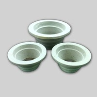 Alumina ceramic pouring cup for precision casting with high quality