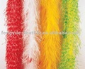 Factory wholesale cheap carnival dance costumes bleach dye colours party decorative supplies ostrich feather boa