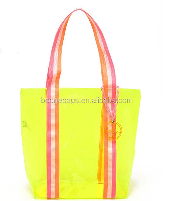 Custom Candy Color Plastic PVC EVA Tote Bags Beach