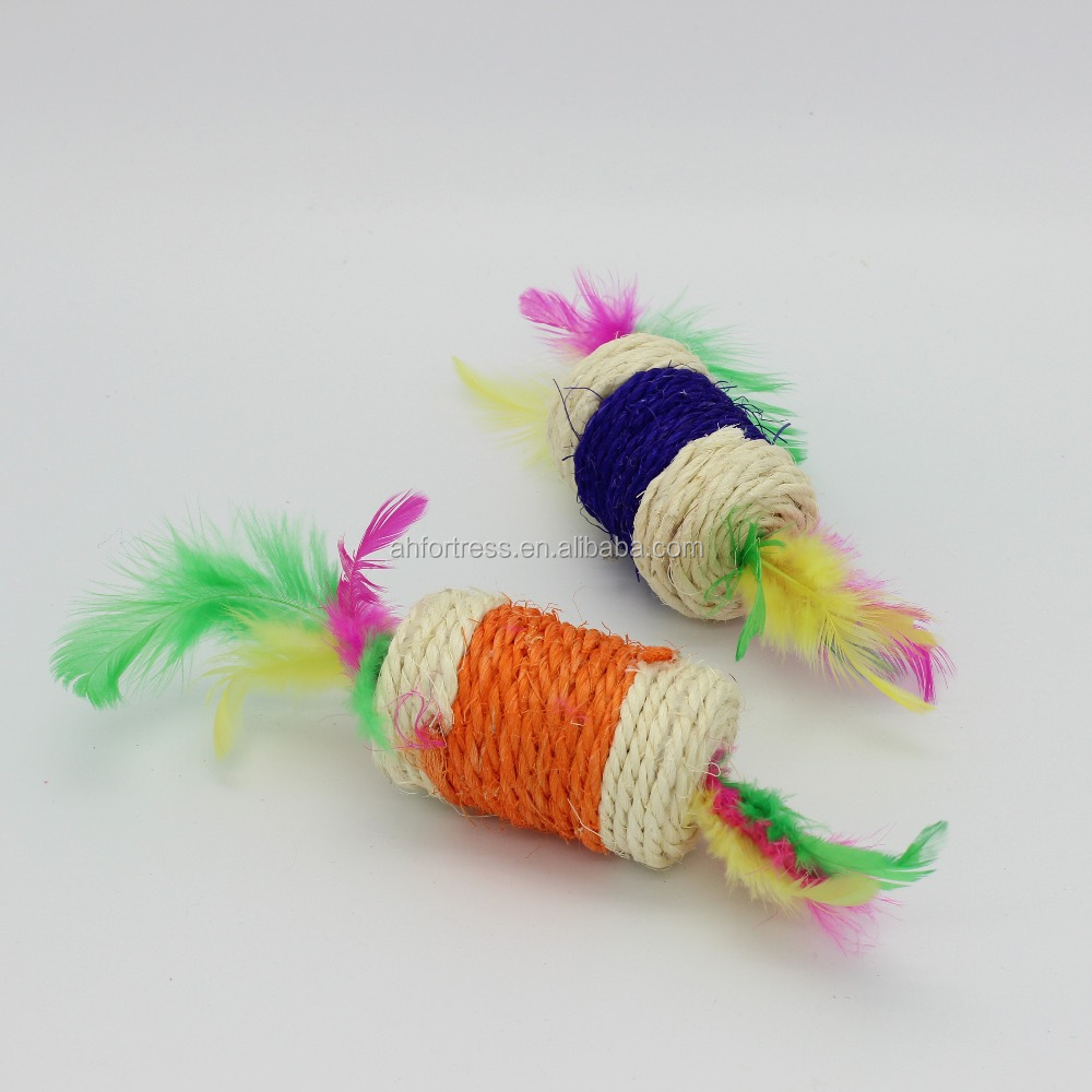 Wholesale cat toys bulk cat toys cat toy ball with feather
