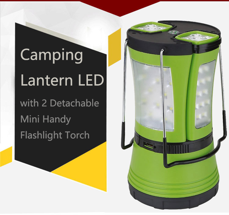 Hand Lamp Usb Outdoor Led Camping Lantern Removable Small 600 Lumen Portable Flashlight Torch Lighting