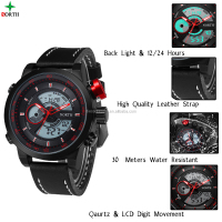 Waterproof Sport Digital LED Date Male Steel Strap Casual Quartz Watch Men Wrist Sport Watch quartz stainless steel watch black