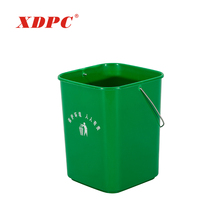 Cheap public color code colorful home plastic advertising garbage recycle bin dustbins without pedal