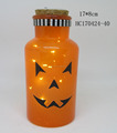 Halloween decorative glass jar with LED lights