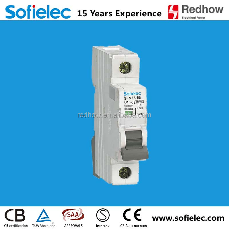 high quality 10KA type 1pole 16 amp circuit breaker CE approvl