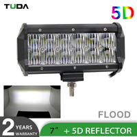 Auto parts Truck Accessory 5D 6000lm Super Bright Led Bar 7inch Flood Jeep 60w Led Work Light