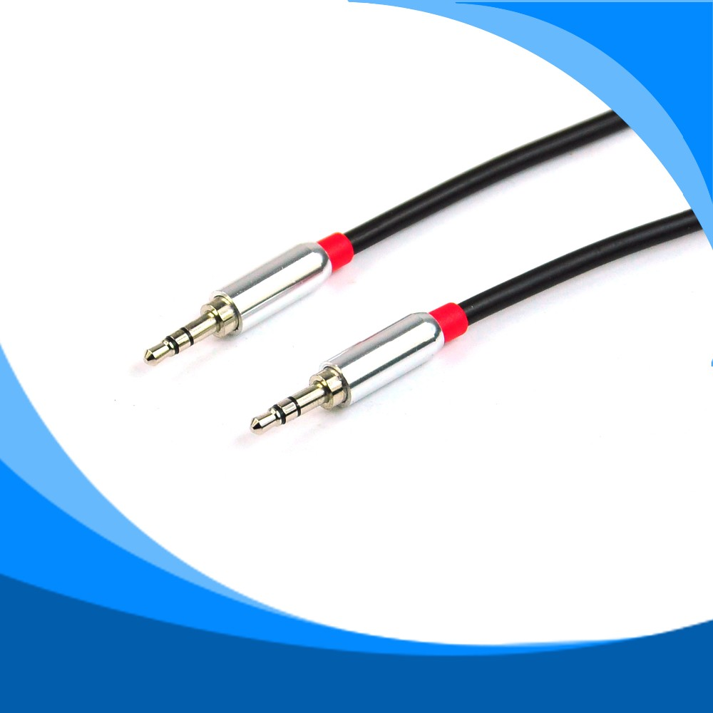 Custom 3.5MM Stereo AUX Cable Silver Plated 3.5mm audio cable