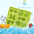 High Quality Cool Silicone Brain Shape Ice Cube Freeze Mold 3d Shape Ice Tray Ice Cream Tools