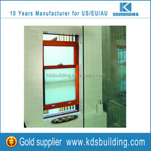 solid wood design push up sliding vertical grille window