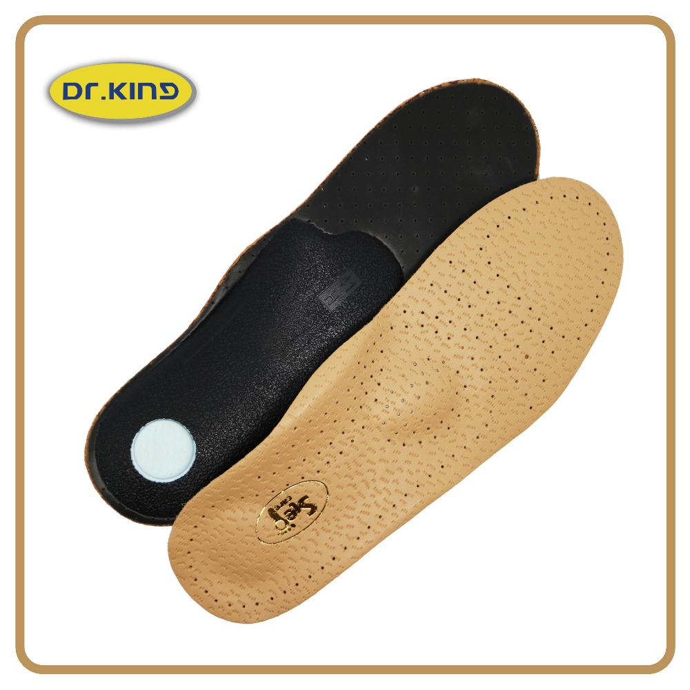Fitness genuine leather custom insoles arch supports