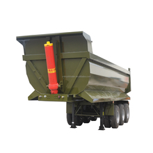 Mining used 40ton 60ton heavy duty Rear dump van semi trailer for sale