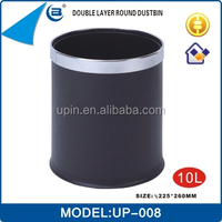 hotel toilet lady sanitary bin plastic waste double layer bin 10L,UP-008