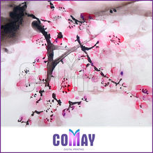 Wholesale Lady High Quality Digital Printing 90cm modern scarf shawl