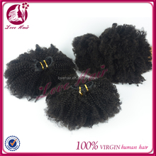 Brazilian virgin hair kinky curly/afro curl weft soft accept small order