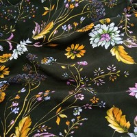 Custom digital print satin silk fabric,100%pure silk fabric