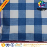 100 cotton yarn dyed woven plaid casual shirt fabric for men