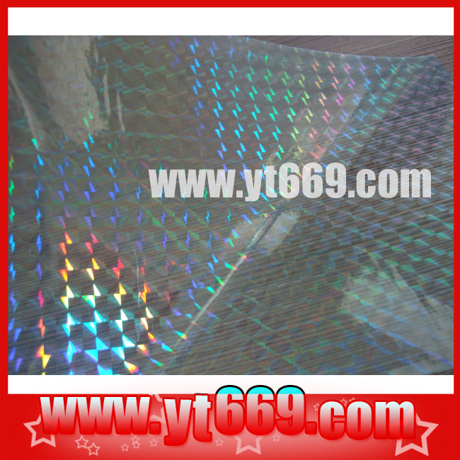 transparent Hologram foil, overlay