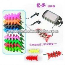 High quality and new design portable silicone fish bone wire organizer