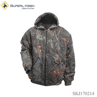 hunting camo insulated hooded jacket