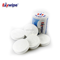 oem acceptable white color 100 percent rayon non alcohol round shape compressed face towel 5pcs one tube
