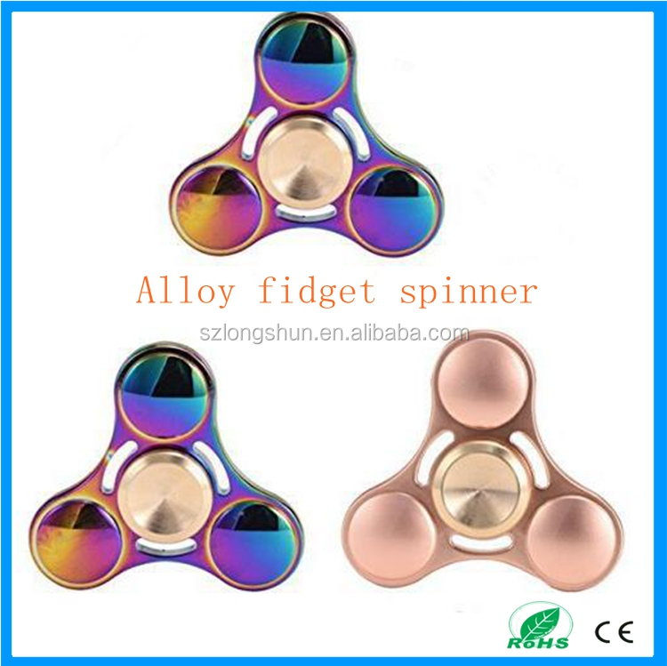 hand Led alloy Triangle fidget spinner metal