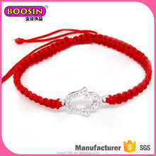 China supplier wholesale handmade top quality red cord bracelet