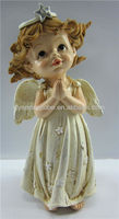 Resin little antique angel statue