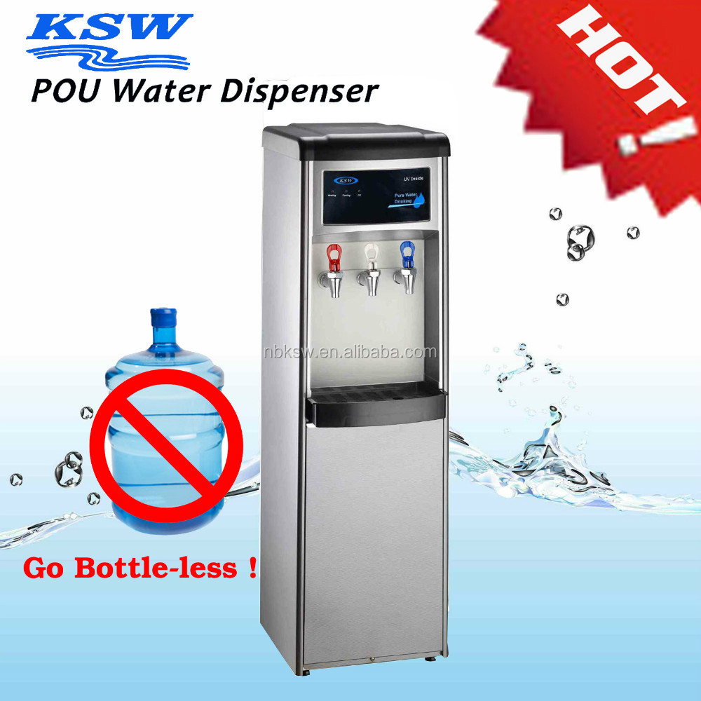 hot and cold water dispenser with filter