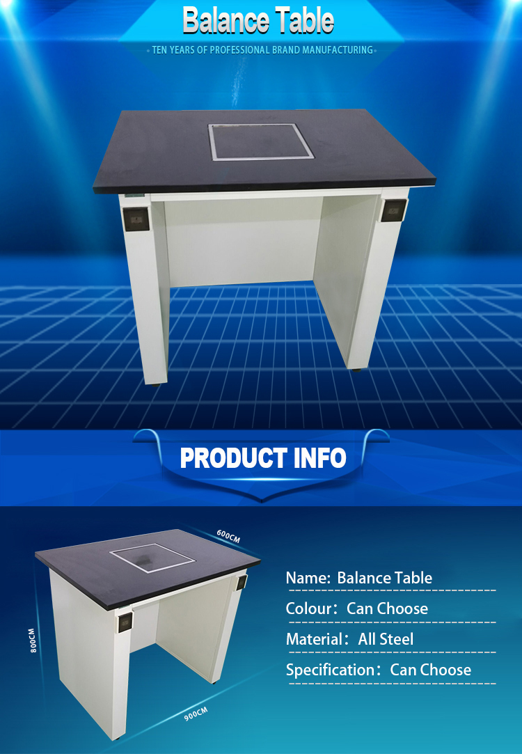 BT02-027 -Chemical metal Laboratory furniture Balance Table work bench