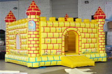 Fantastic Inflatable Golden Jumping Bed Bouncy Castle for Kids