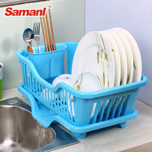 Hot Sale Colorful Plastic Dish Drying Rack Kitchen Dish Drainer Storage Dish Shelf With Drain Rack