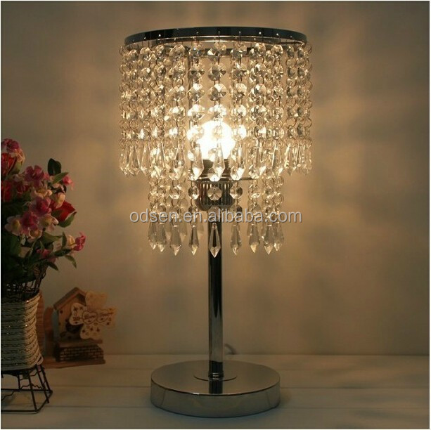 modern cordless crystal chandelier table lamp