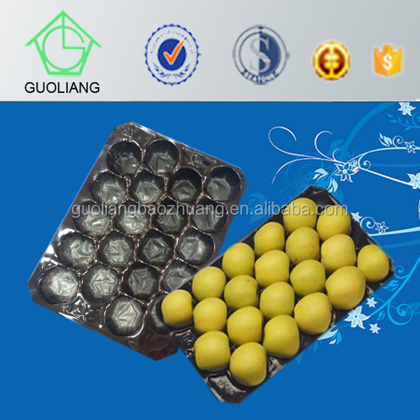 factory price high quality frosted surface vacuum forming fruit tray for apple packaging made of eco-friendly pp