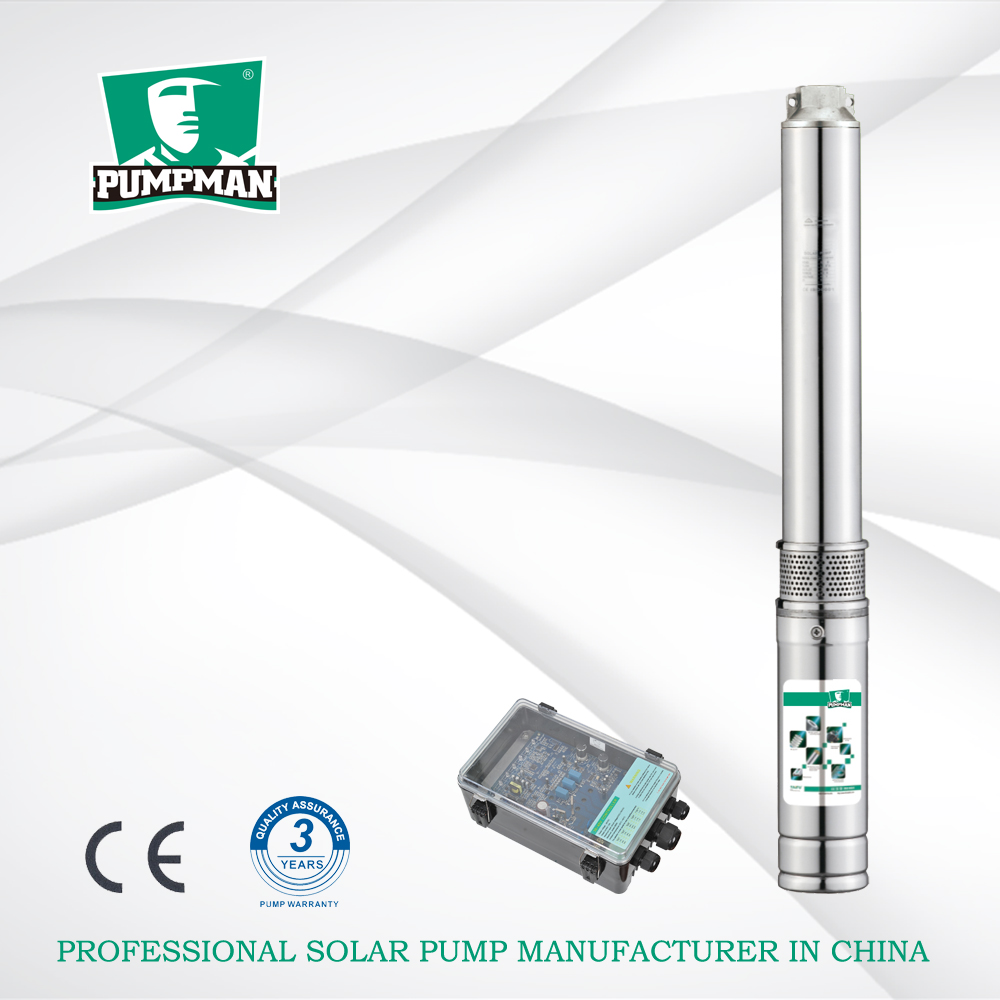 4TSC Pumpman 4 inches energy saving used in dry region for irrigation solar DCsubmersible pump borehole pump