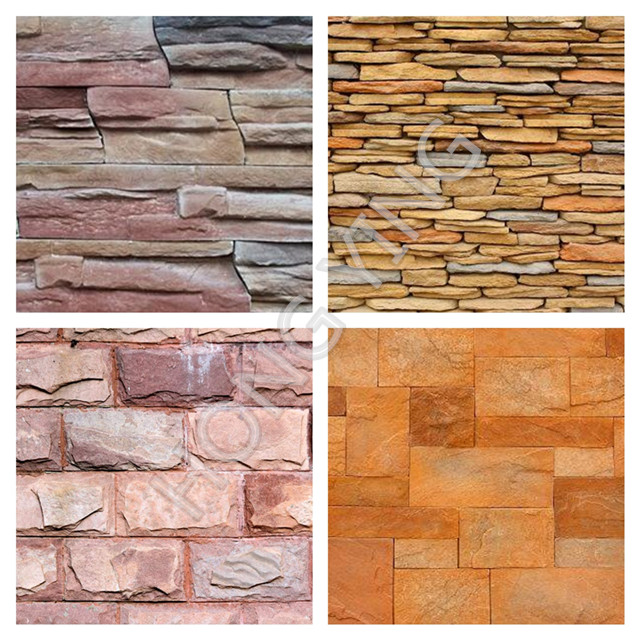 cheap artificial stone wall cladding panel faux stone panel in natural texture