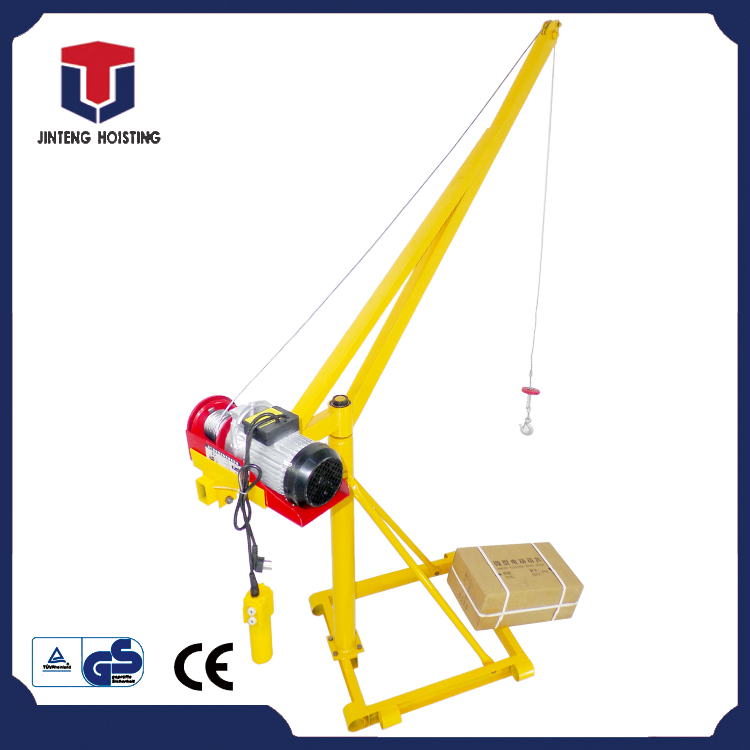 200kg 220v power supply 360 degree rotating square arm Small lifting crane with factory lower price