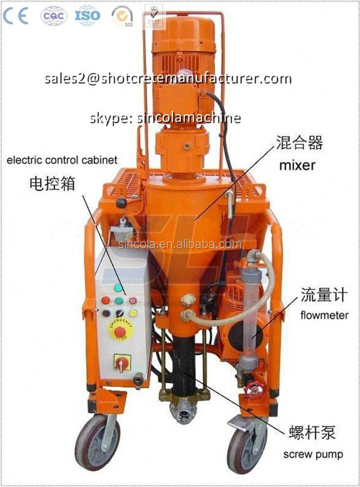 Screw theory adhesive mortar sprayer /spray plaster machine for sale alibaba website