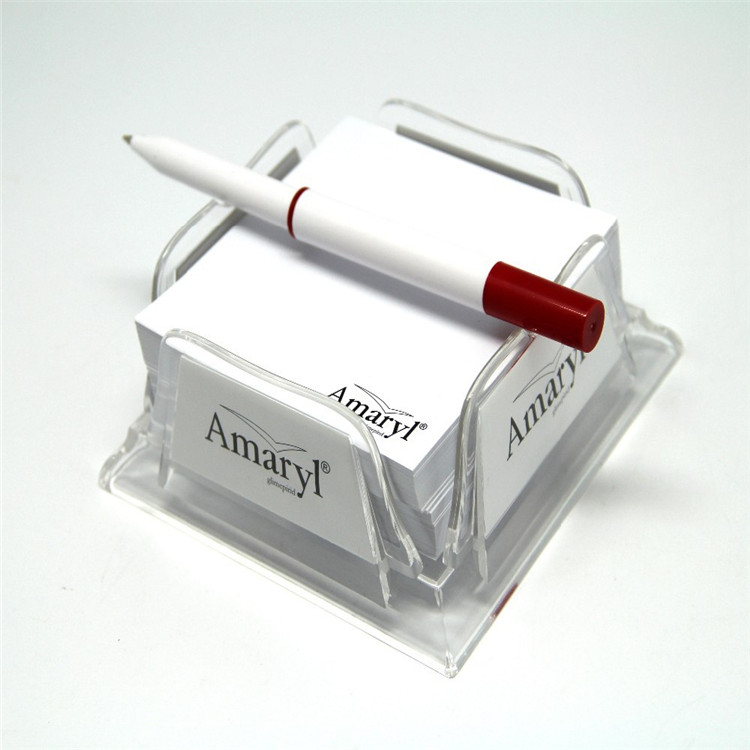 Popular style good quality clear 4x6 acrylic note pad holder